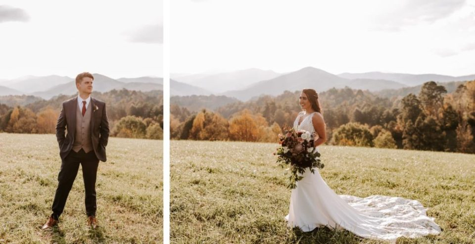 Bride and groom portraits.