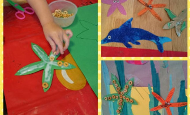 Cheerio starfish crafts