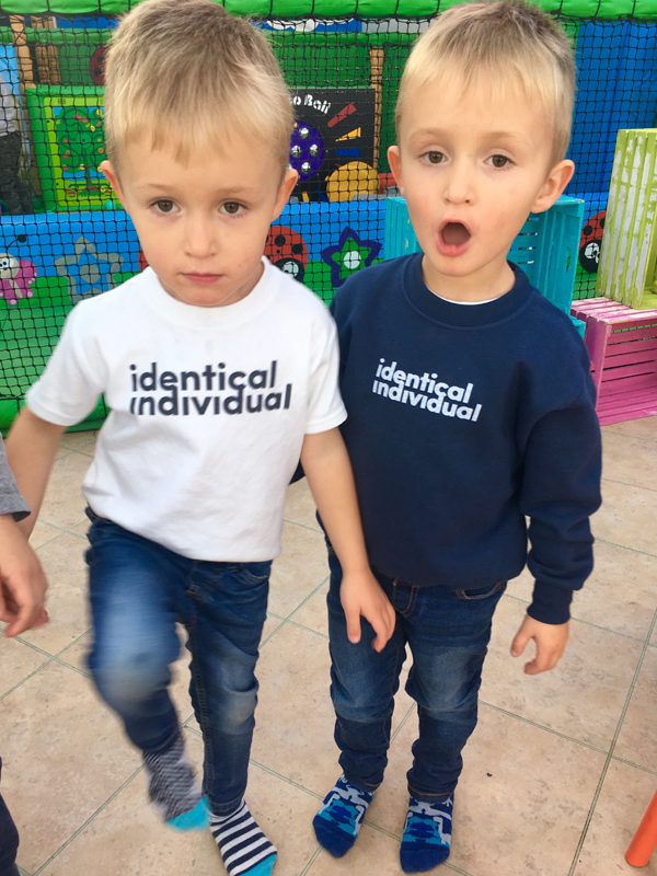 twins identical individual sweatshirt