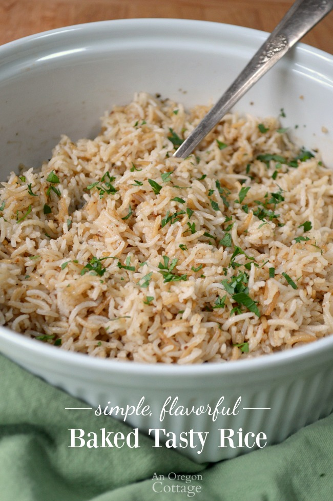 A family favorite! Simple Flavorful Baked Tasty Rice