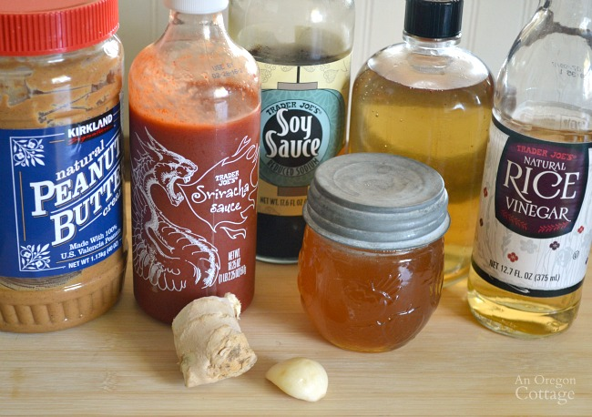 Spicy peanut sauce ingredients