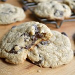 Soft chewy whole grain chocolate chip cookies