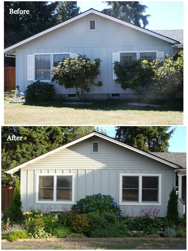 Exterior Bedroom Wing Before-After - An Oregon Cottage