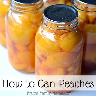 How to Can Peaches via Frugal Family Home