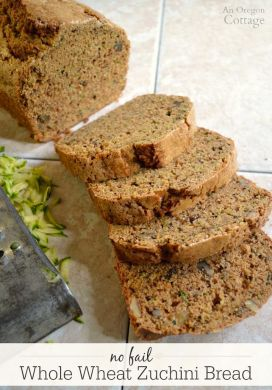 Healthy, Whole Wheat No Fail Zucchini Bread