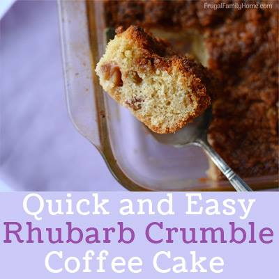 Rhubarb Crumble Coffee Cake at Frugal Family Home