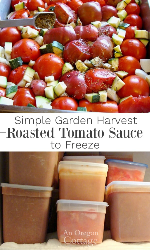Garden Harvest Roasted Tomato Sauce Eat Fresh Or Freeze For Later