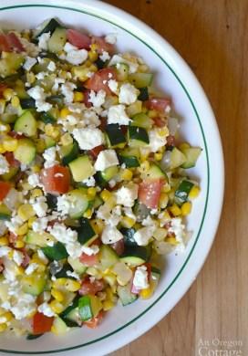 Zucchini, Corn, and Tomato Sauté with Feta (+ more Summer Garden Recipes)