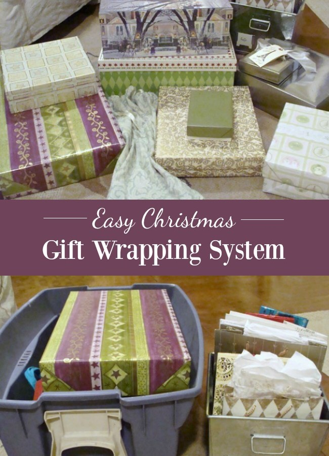 Save money and a lot of time with this easy gift wrapping system for your family's Christmas gifts beautifully while keeping trash out of the landfill.