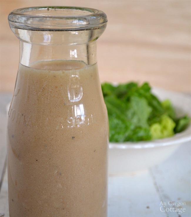 Basic homemade vinaigrette salad dressing
