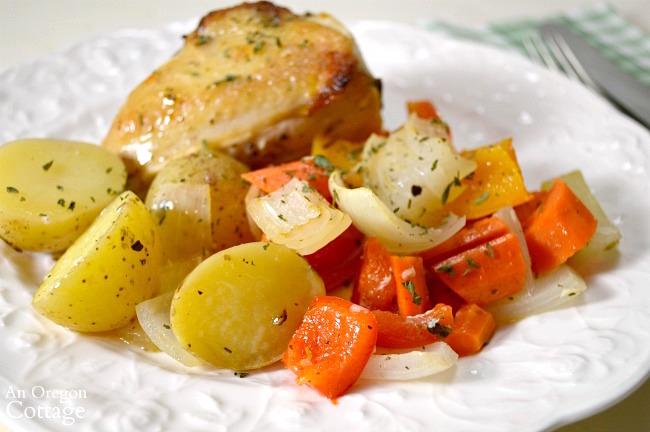Sheet Pan Lemon-Garlic Roasted Chicken and Vegetables