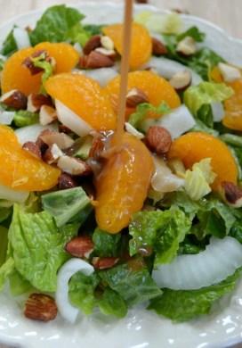 Orange Almond Salad with Orange-Balsamic Vinaigrette