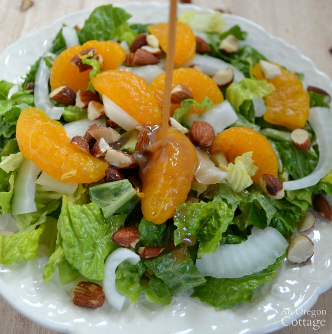 Easy Orange Almond Salad