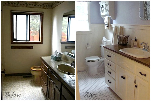 Diy remodeling at aoc the bathrooms for Cottage bathroom ideas renovate
