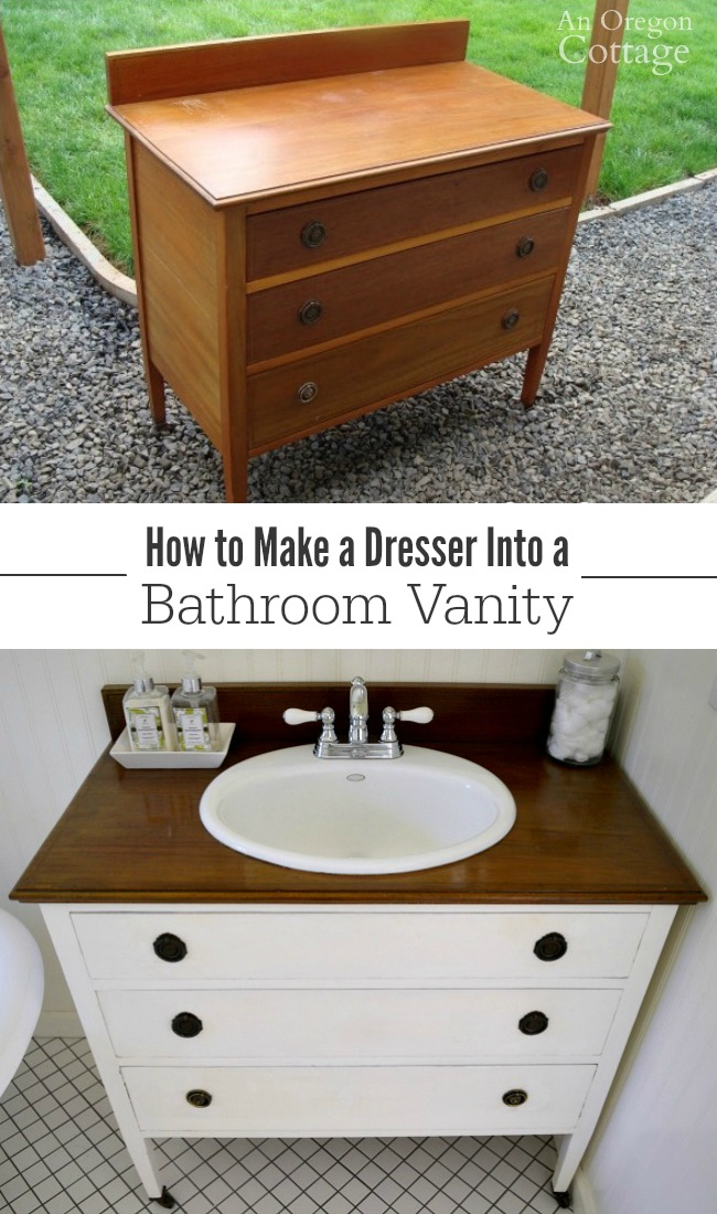 A step-by-step tutorial on how to make a dresser into a vanity to add character and save money!