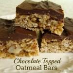 Chocolate-Topped Oatmeal Bars| AnOregonCottage.com