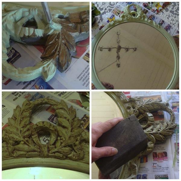 Painting Vintage Mirror