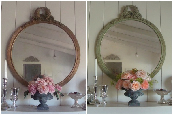 Round Vintage Mirror Before-After