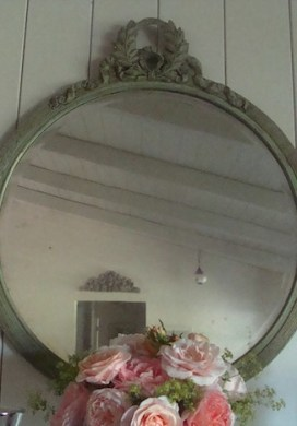 Vintage Mirror Before and After