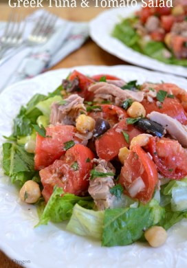 Greek Tuna And Tomato Salad
