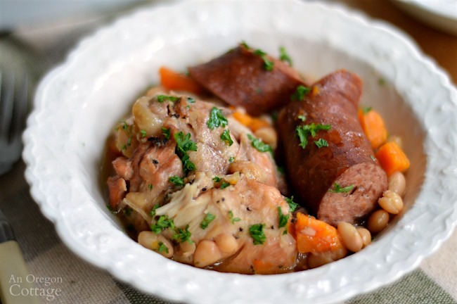 Delicious slow cooker cassoulet