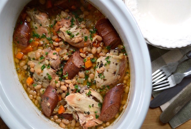 Slow cooker cassoulet for busy weeknight dinners