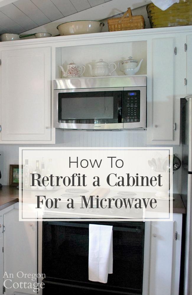 retrofit a cabinet for a microwave