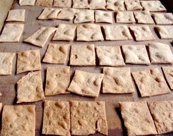 Sourdough Whole Wheat Crackers baked