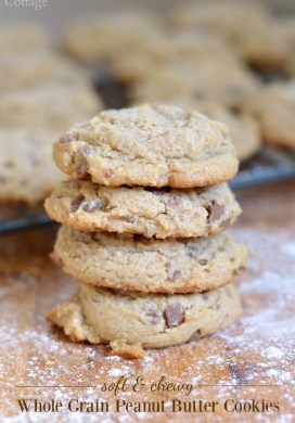 Soft And Chewy Whole Grain Peanut Butter Cookies