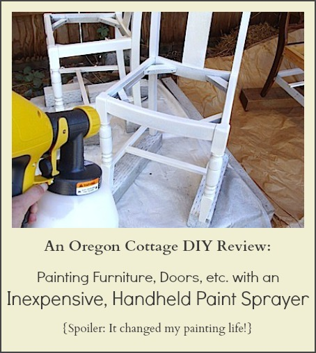Review: Painting with An Inexpensive Handheld Painter Sprayer - An Oregon Cottage
