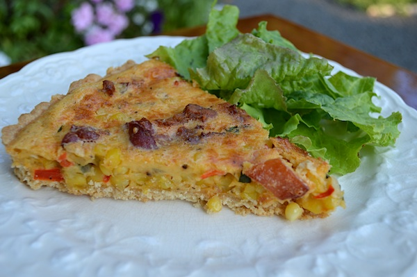 Summer Corn Tart with Bacon