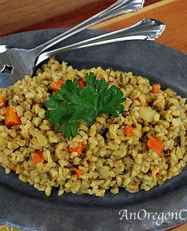 Easy Slow Cooker Curried Barley