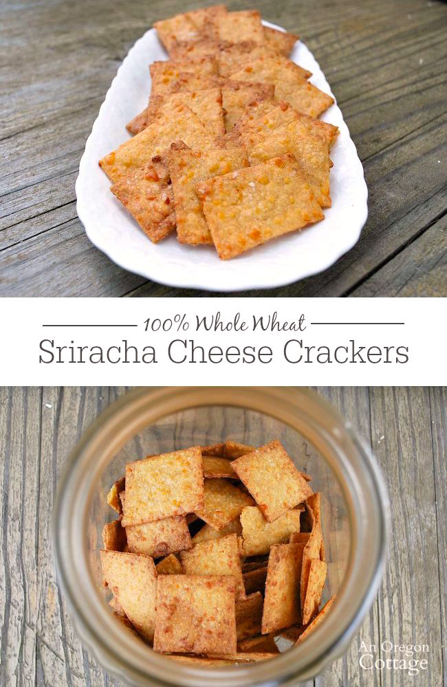 100% Whole grain, cheesy and slightly spicy crackers that are surprisingly easy to make.