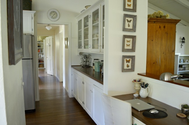 "2016 Cottage built-in desk and ""butlers pantry"""