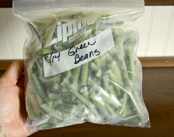 Green beans from the freezer