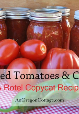 Canned Tomatoes & Chilies {a Rotel Copycat Recipe}