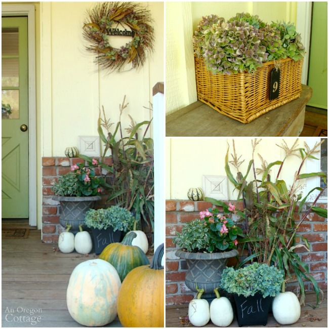 Fall Porch Decorating From the Garden 2012