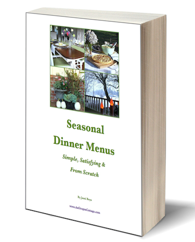 Seasonal Dinner Menus eBook - An Oregon Cottage