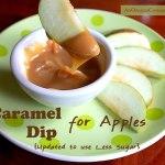 Lower sugar caramel dip for apples