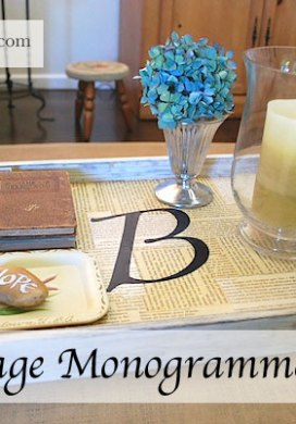 Book Page Monogrammed Tray