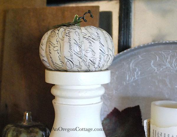 script decoupage pumpkin