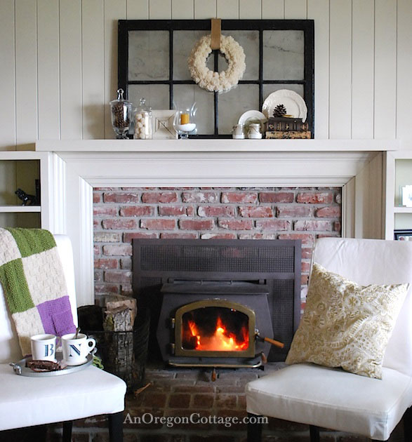 Quiet Winter Fireplace