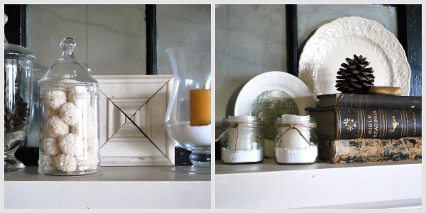 Winter mantel details