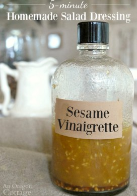 Homemade Sesame Vinaigrette Salad Dressing & Marinade