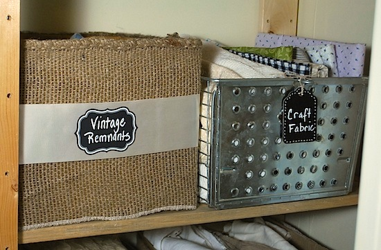 burlap storage box and gym basket