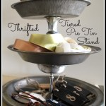 DIY Tiered Vintage Pie Tin Stand :: An Oregon Cottage