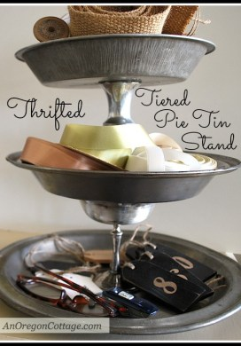 Tiered Pie Tin Stand {Thrift Store Transformation}