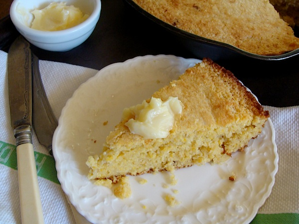 Honey butter on Cornbread