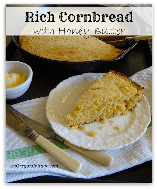 Rich Cornbread with Honey Butter