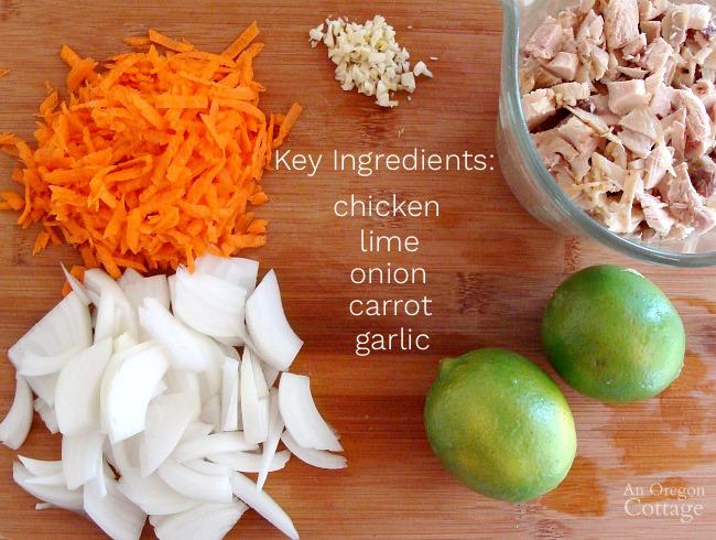 Chicken Lime Lettuce Wrap key ingredients